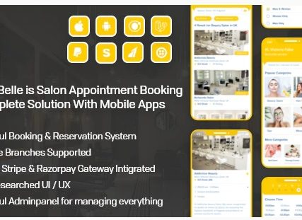 HTC 10 evoSalon & Spa Appointment Booking App For Android – iOS App with admin panel – Beauty Belle