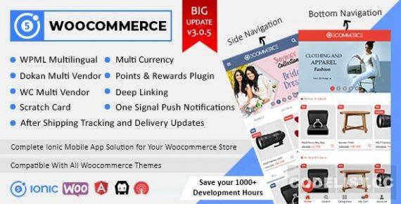 Ionic5 Woocommerce – Ionic5/Angular8 Universal Full Mobile App for iOS & Android / WordPress Plugins