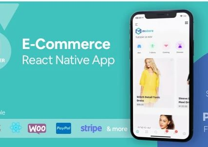 MStore Pro – Complete React Native template for e-commerce