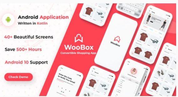 WooBox – WooCommerce Android App E-commerce Full Mobile App + kotlin