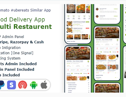 Food, Grocery, Meat Delivery Mobile App with Admin Panel