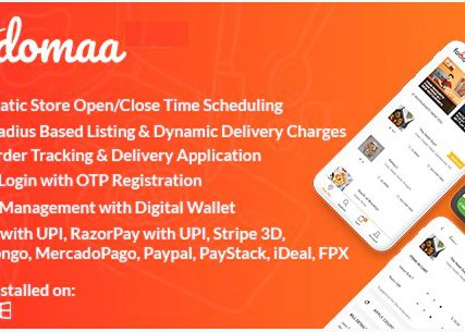 Foodomaa – Multi-restaurant Food Ordering, Restaurant Management and Delivery Application
