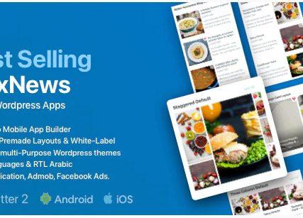 FluxNews – Flutter mobile app for WordPress