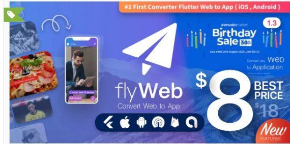 FlyWeb for Web to App Convertor Flutter + Admin Panel