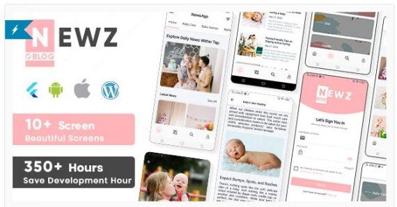 Newz – Flutter News & Blog App For WordPress