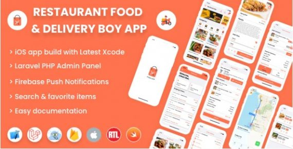 Single restaurant iOS food ordering app with Delivery Boy and Admin Panel