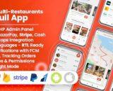 Food Delivery Flutter + PHP Laravel Admin Panel
