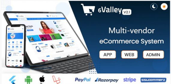 6valley Multi-Vendor E-commerce – Complete eCommerce Mobile App, Web and Admin Panel