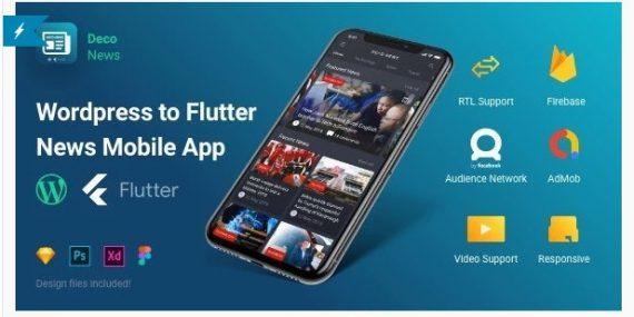 Deco News – Flutter Mobile App for WordPress