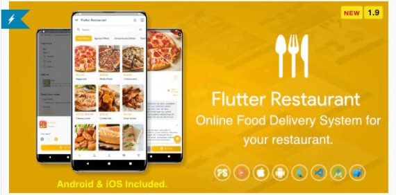 Flutter Restaurant – Online Food Delivery System For iOS and Android
