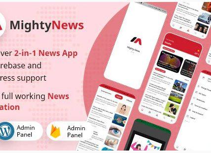 MightyNews – Flutter 2.0 News App with WordPress + Firebase backend