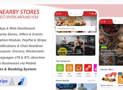 Nearby Stores Android – Offers, Events, Multi-Purpose, Restaurant, Services & Booking 2.5.1