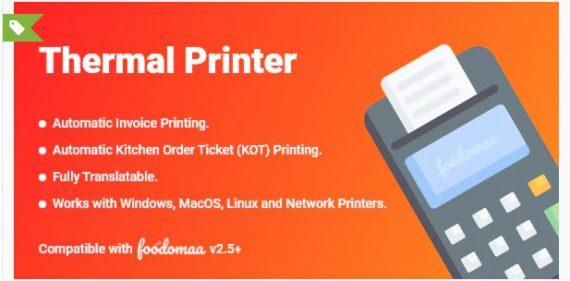 Thermal Printer Module for Foodomaa