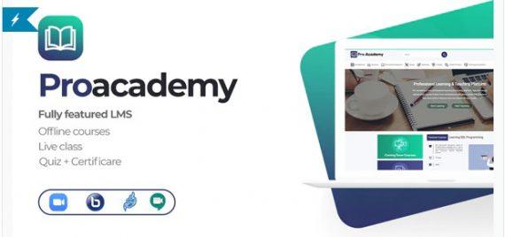 Proacademy 2 – LMS & Live Classes Marketplace