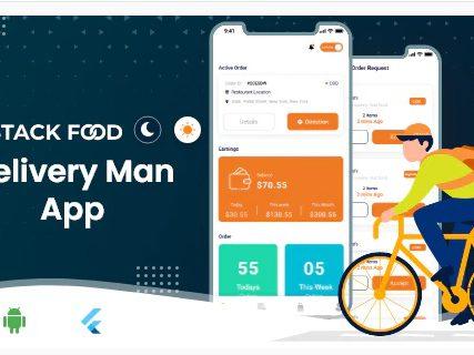 StackFood Multi Restaurant – Food Ordering Delivery Man App